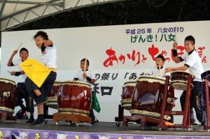 福岡県八女市のお祭りあかりとちゃっぽんぽんにて